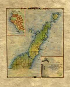 Original Door County map ... MAY be intensified a bit, Not sure.