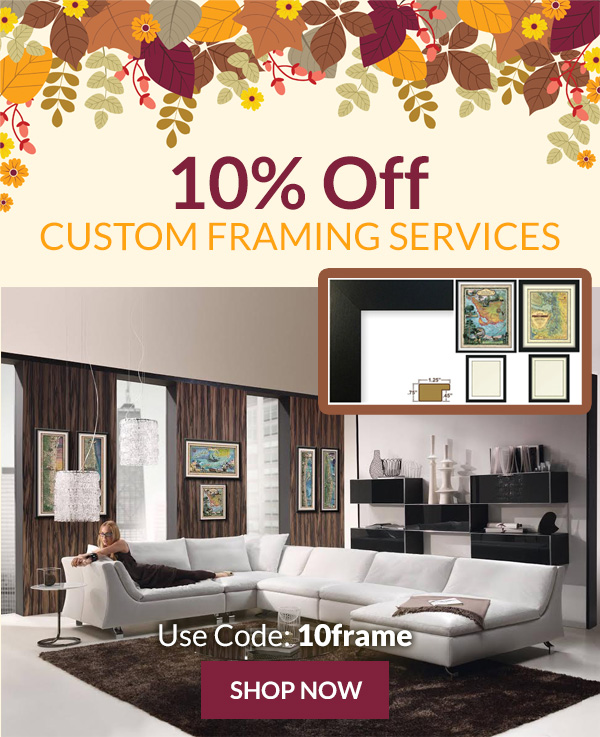 10% Off Custom Framing