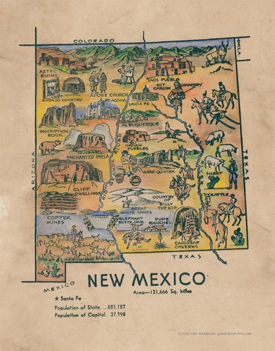 Educational Map Series: Kid\'s Map of New Mexico - Great ...