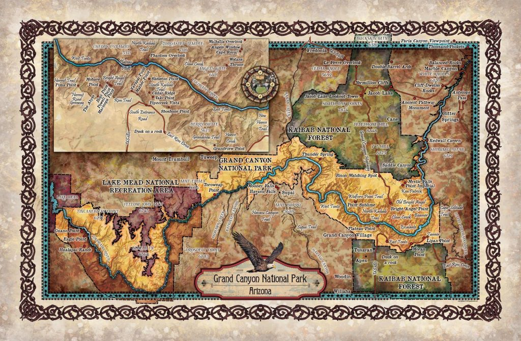 Travel Tuesday Map Feature Grand Canyon Sites And Hikes